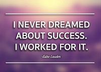 I never dreamed about success,I worked for it - Best quotes