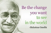 Famous Mahatma Gandhi quotes about politics, democracy and peace