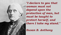 Susan B. Anthony Quotes And Sayings About Women