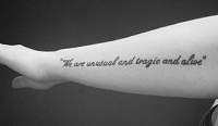 Short Meaningful Quotes For Tattoos - Meaningful Tattoos