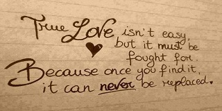 Finding True Love Quotes - True love is Forever