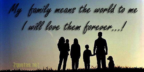 I Love My Little Family Quotes and Sayings