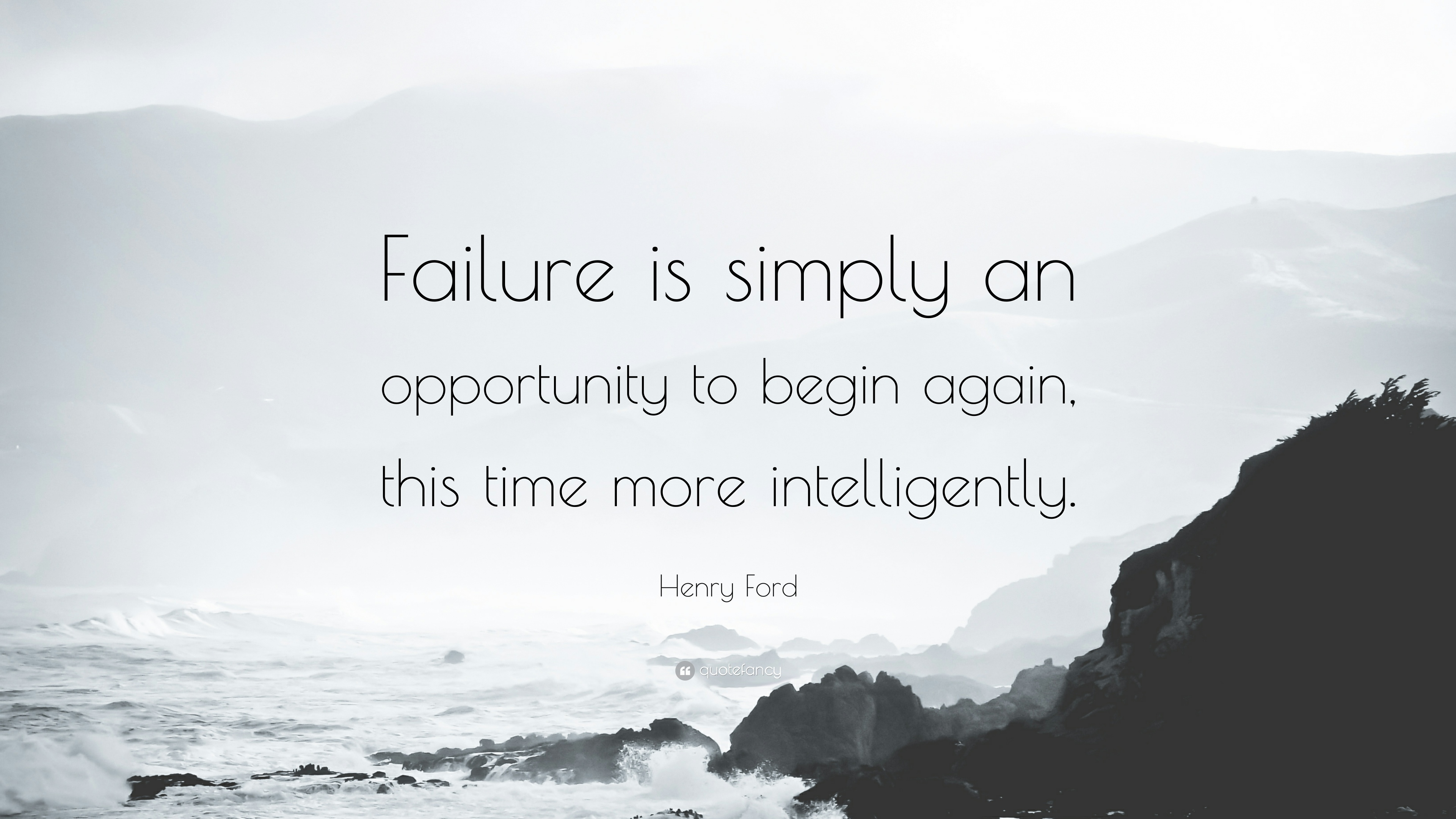 Failure is the opportunity