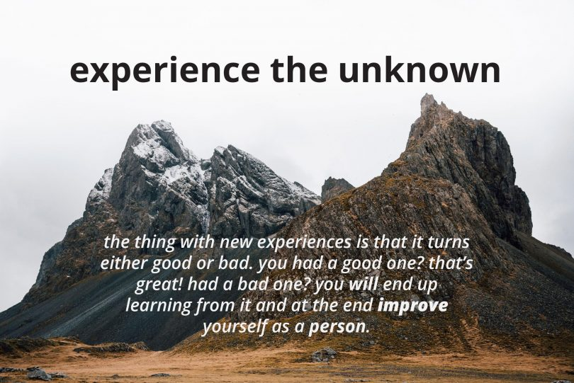New experience quotes interesting