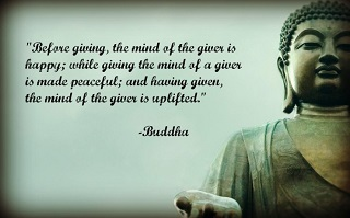 BUDDHA QUOTES on giving