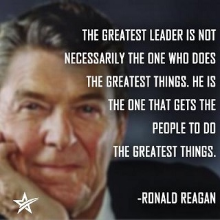 Ronald reagan quote on leadership