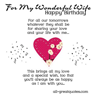 Short happy birthday quotes for wife