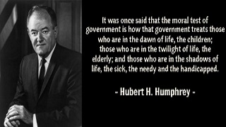 famous quotes by Hubert H.Humphrey