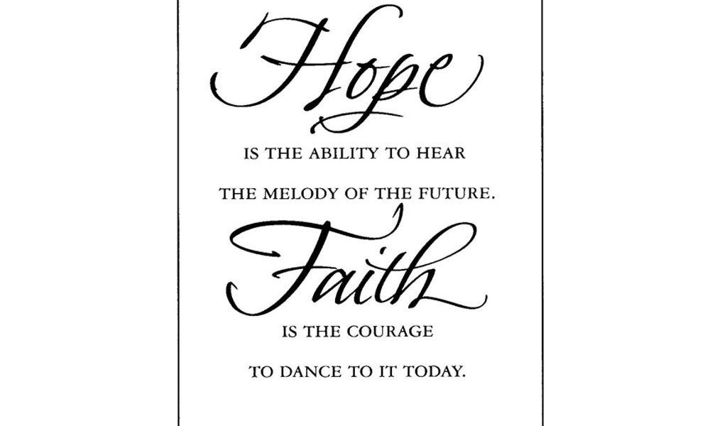hope and faith quotes
