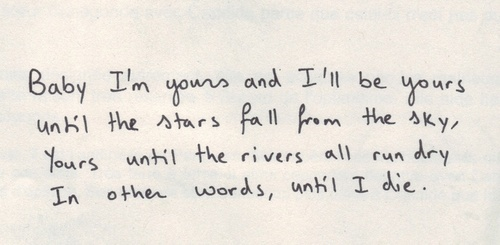 im yours quotes
